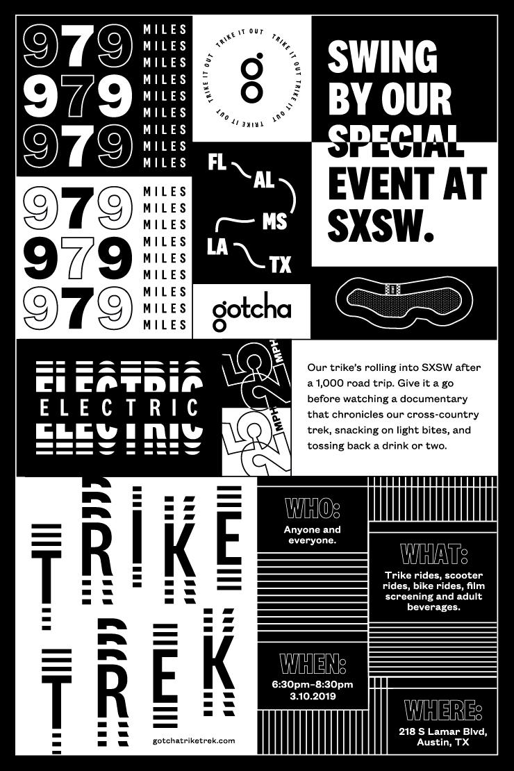 Trike Trek Poster